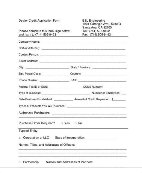 dealer application template 26 images of dealer application form template infovia net