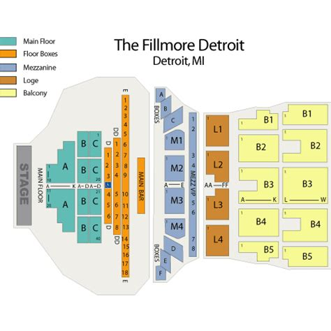 Mi Casa Floor Plan by The Fillmore Theater In Detroit Mi Seating Yahoo Answers