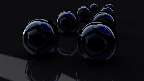 wallpaper black glass black glass balls rendering wallpapers and images
