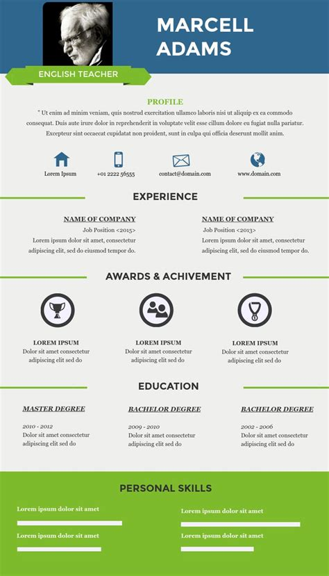 infographic resume template for teachers resume infographic resume templates for teachers available in visme jobloving your