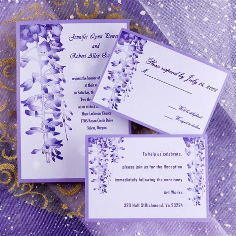 customized wedding invitation cards free unique purple garden wedding invitations ewi007 as low as