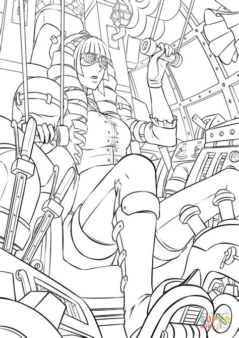 guys of sci fi coloring book a grown up coloring book for anyone who guys books niebla is controlling steunk robot coloring page