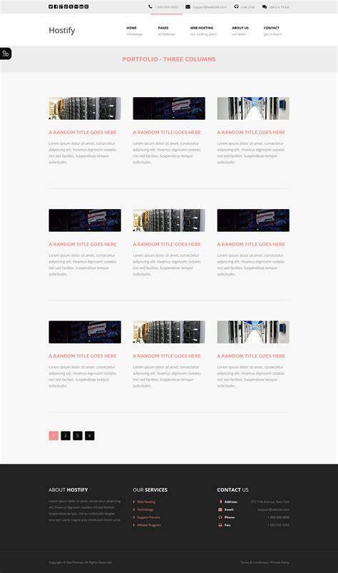 responsive layout html5 download hostify responsive html5 hosting template free download