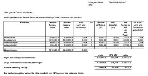 Vorlage Rechnung Vermietung Nebenkosten Und Mehrwertsteuer Wie Abrechnen