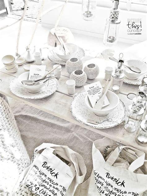 Deko Ideen 5180 by Color Pattern White Black Grey Tischdeko
