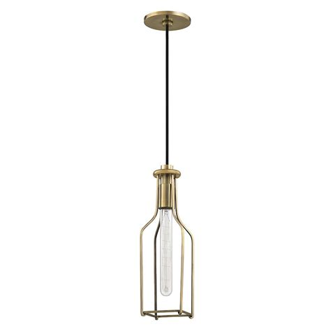 aged brass pendant light hudson valley 1041 agb colebrook vintage aged brass mini