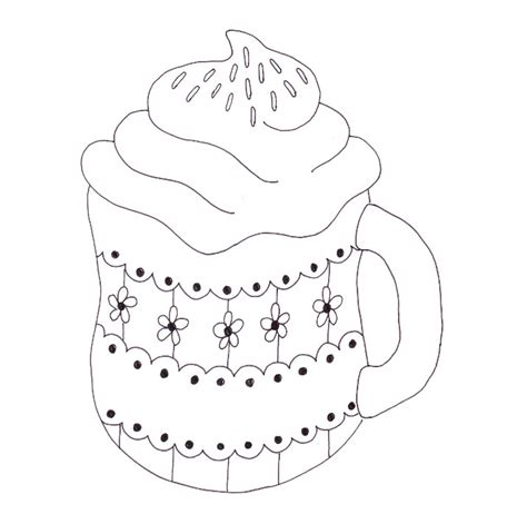 hot cocoa mug coloring page coloring pages