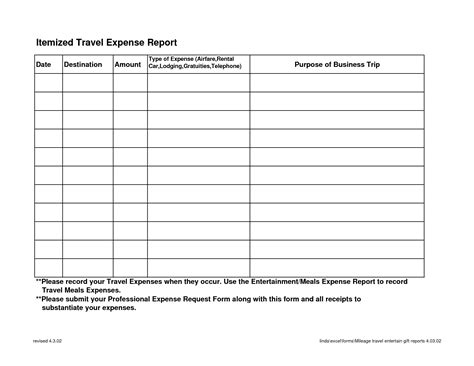 Blank Expense Report Helloalive Travel Expense Sheet Template Free