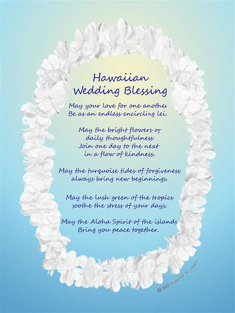 Wedding Blessing Hawaiian hawaiian wedding blessing drawing by jacqueline shuler