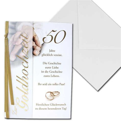 Goldene Hochzeit Karte by Karte Hochzeitskarte Zur Goldene Hochzeit 50 Jahre Vier