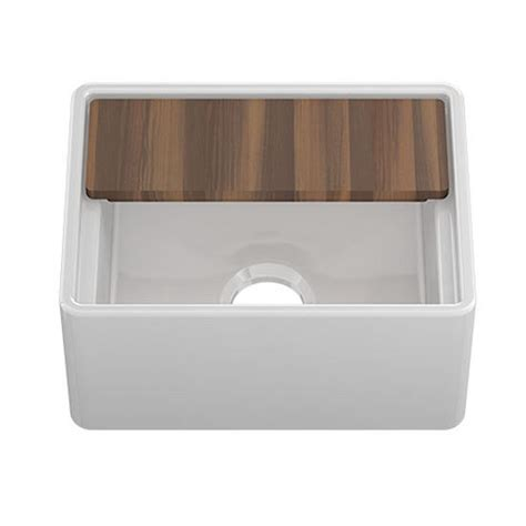 Kitchen Sink Cutting Board Fira Collection Single Undermount Fireclay Bar Kitchen Sink W Ledge Apron And Cutting Board