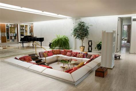 great room furniture layout with inground living area