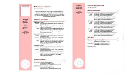 Plantilla De Curriculum Vitae Moderno Para Llenar 3 Plantillas Para Hacer Tu Cv Gratis Noticias Y Consejos De Empleo Oficinaempleo