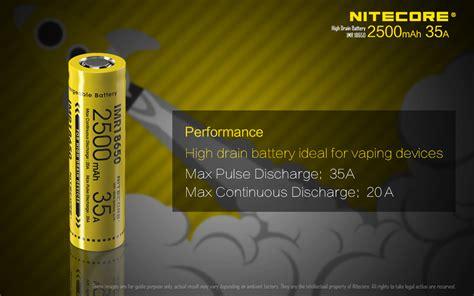 Baterai Vaping Baterai Vape Baterai Rokok Elektrik 18650 2200 Mah Nitecore Imr18650 Baterai Vape 2500mah 35a 3 7v Yellow