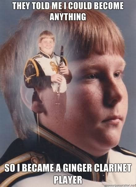 Clarinet Player Meme - image 126854 they told me i could be anything i