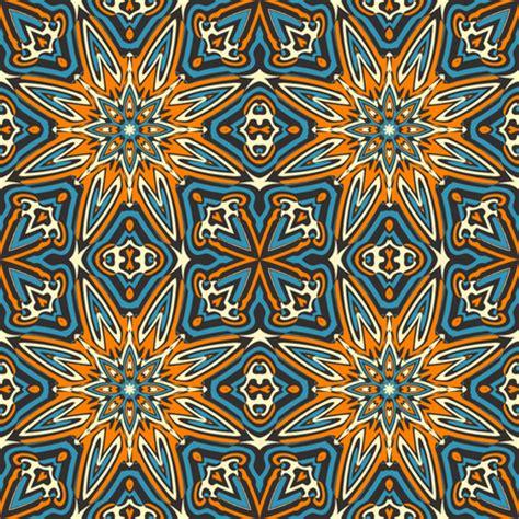 block print african green and orange wallpaper set 1 pattern 7 orange blue black tribal style fabric