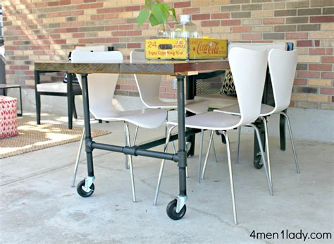 Eat In Island Kitchen by Diy Plumbing Pipe Table Tutorial