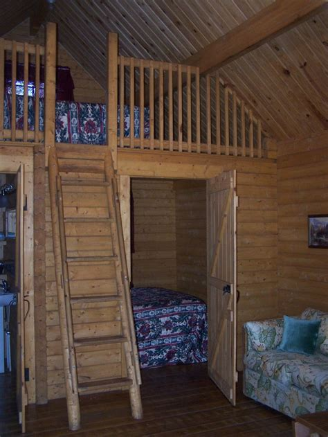 tiny loft cabin log cabins cabin fever pinterest
