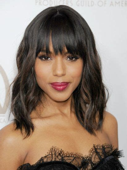 kerry washington hair pin up 25 best ideas about pin back bangs on pinterest pinned