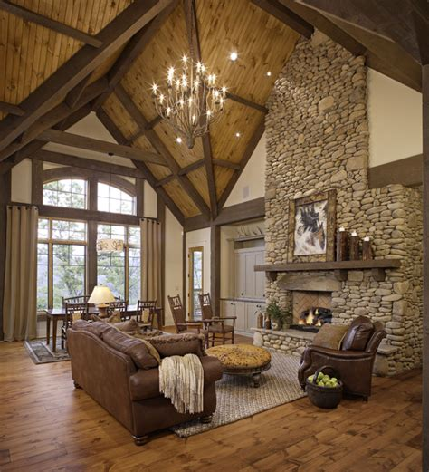 rustic livingroom private residence rustic living room other by