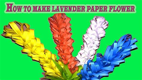 lavender paper flower tutorial how to make lavender paper flower easy origami flowers