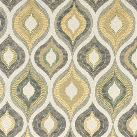 Upholstery Fabric by Gold Blue And Green Bright Upholstery