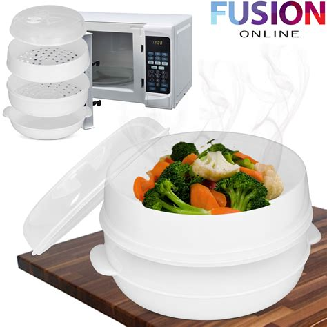 m s microwave vegetables 2 tier microwave steamer pasta vegetable rice fish steamer