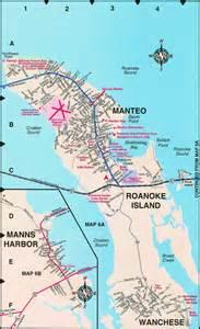 manteo map roanoke island maps nc