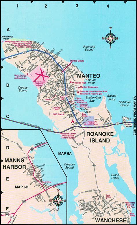 roanoke carolina map manteo map roanoke island maps nc