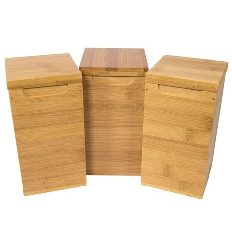 canisters glamorous bamboo kitchen canister set airtight