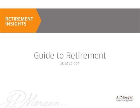 jp retirement login jp guide to retirement 2012