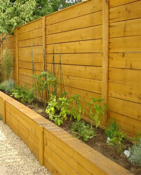 Privacy Fence Planter Box fence with custom planter box yard