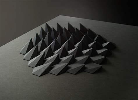 Folded Paper Sculpture - sculpture series folded paper by matthew shlian the