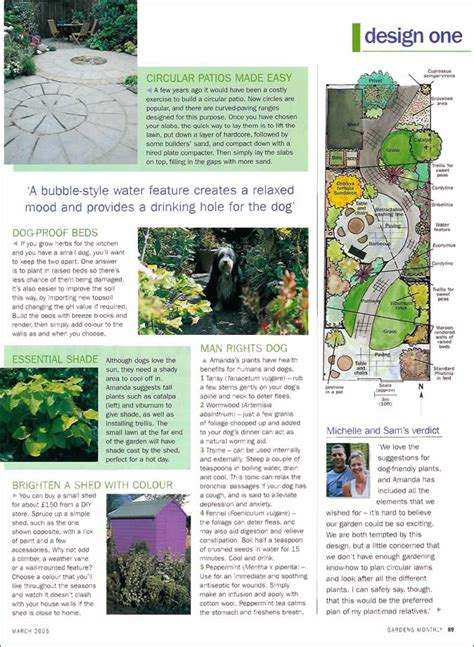 magazine articles garden designer