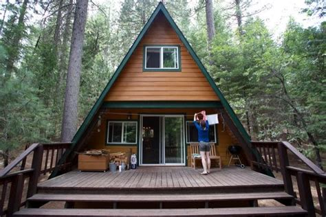 Tiny A frame Cabin in the Woods