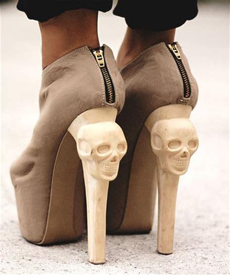 amazing high heels amazing high heels pretty skulls suede image 306351