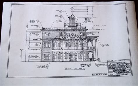 blueprint of a mansion disneyana page 10