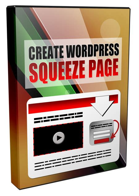 wordpress squeeze page template create squeeze page in