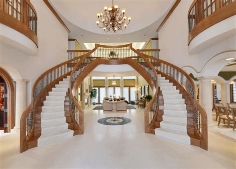 Staircase Ideas Near Entrance Dual Staircase In Grand Foyer Luxury Homes Pinterest Foyers And Staircases