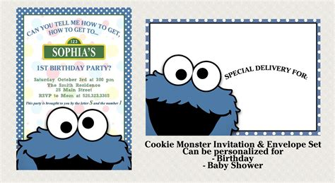 cookie invitation template cookie invitation set matching and 50 similar items