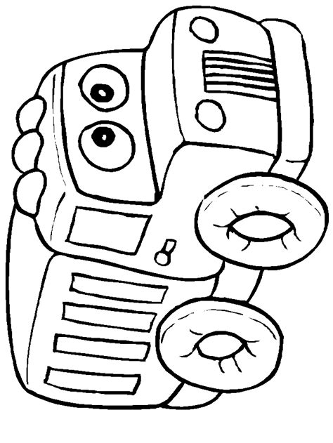 free t is for truck coloring pages