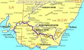australia river map murray river australia map
