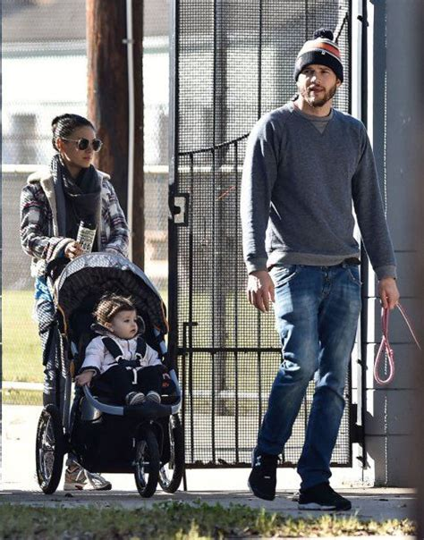 Get Look Demi Moores Miu Miu Coffer by Ashton Kutcher And Mila Kunis With Baby Wyatt Out And