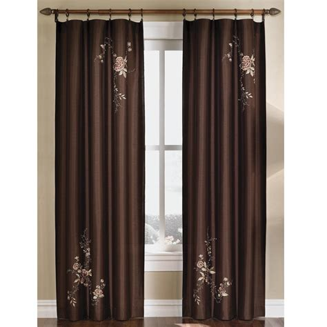 chocolate curtain panels upc 076389970470 curtainworks curtains drapes asia