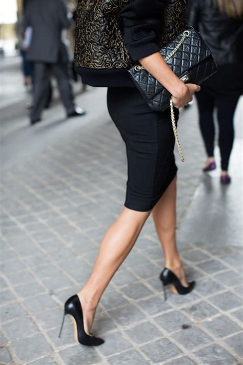 heels pencil skirts cause birthday suits draw