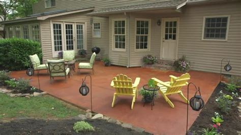 diy concrete backyard transform a concrete patio video diy