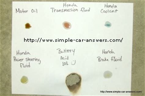 what color is power steering fluid car power steering leak from your car what do