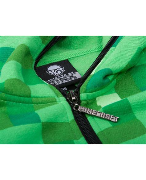 Premium Zipper Bmth 1 minecraft creeper premium zip up youth hoodie