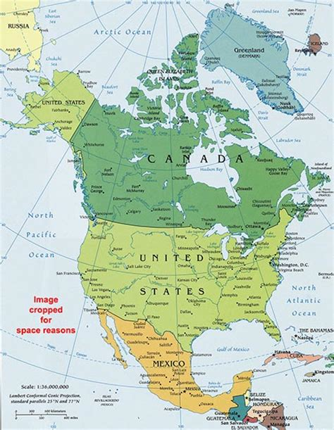 map of canada and the united states political map of the united states and canada