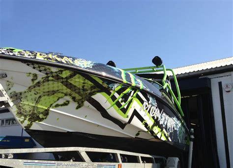 narrow boat vinyl wrap boats wrapping monster prestige customs